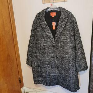 Wool blend coat size 3X bnwt